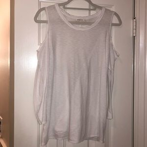 White open shoulder tee SIZE S